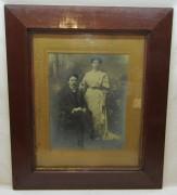 Фотография старинная в раме, с подписью фотографа №7124